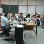 Professor André Botelho em aula da UQ no dia 26 de abril (Crédito: Jurema Cipriano)