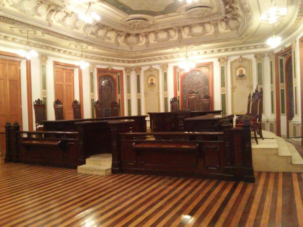 Antiga Sala de Sessões do Supremo Tribunal Federal, hoje Centro Cultural da Justiça Federal (Crédito: Pedro Diego Rocha)