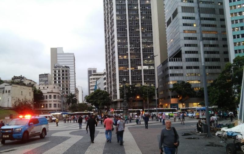 Vista parcial do Largo da Carioca (Crédito: Pedro Diego Rocha)